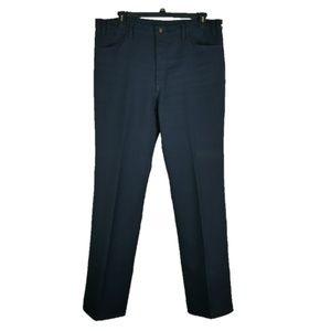 VTG Levis Polyester Pants Mens Sz 40x34 Navy